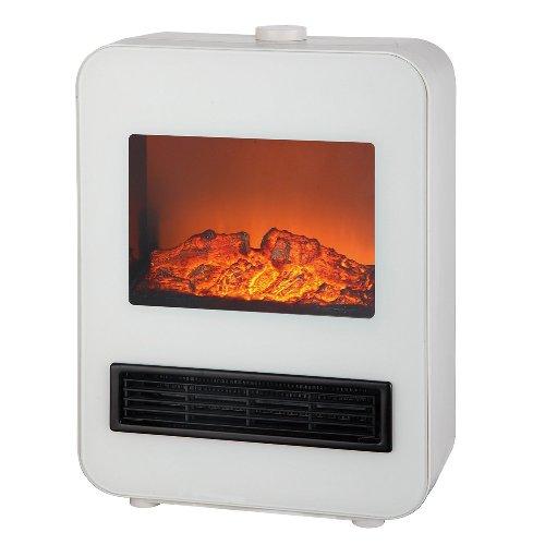 テクノス 暖炉型セラミックファンヒーター 1200W ホワイト TEKNOS TD-S1200(W)