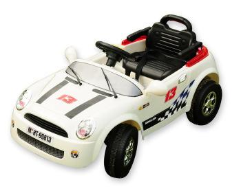 【メーカー直送品・代引き決済不可】電動乗用RC MINI CAR ホワイト ミニクーパータイプ