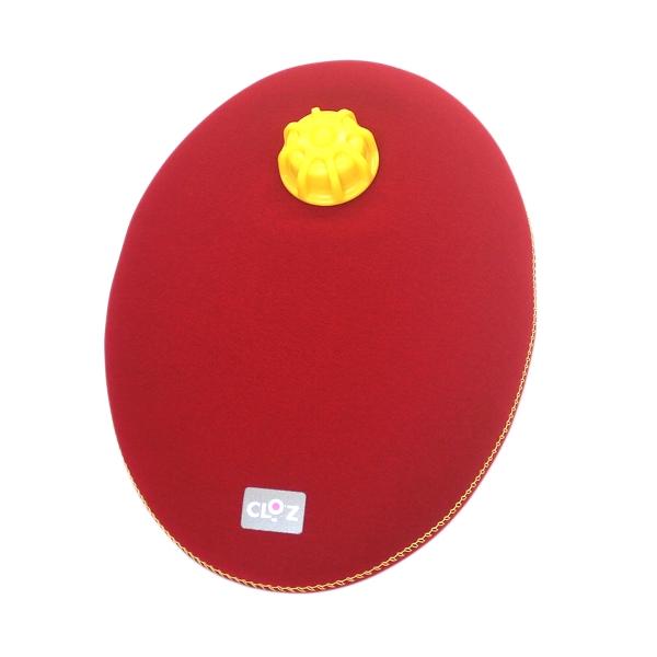 世界初 ウェットスーツ素材の新感覚湯たんぽ 人気ブランド クロッツ やわらか湯たんぽ 人気海外一番 HY-605-RD レッド たまご型タイプ CLO'Z