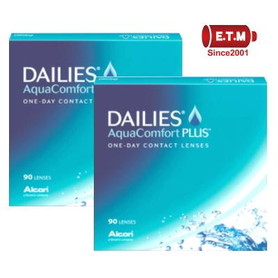 【送料無料!2箱】デイリーズアクア コンフォートプラス 90枚パック 1日使い捨てコンタクトレンズ バリューパック90枚入 2箱セット 日本アルコン ワンデー 1day DAILIES Aqua Comfort PLUS