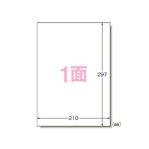 エーワン PPCラベルA4ノーカット/500枚 28762