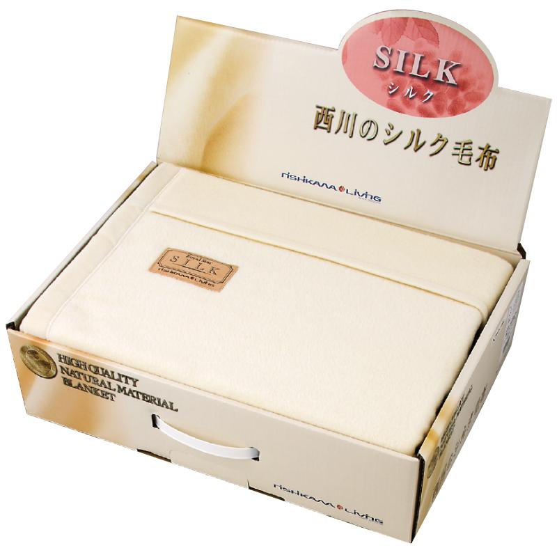 【ギフト包装・のし無料】西川リビング シルク毛布(毛羽部分) 2049-74828
