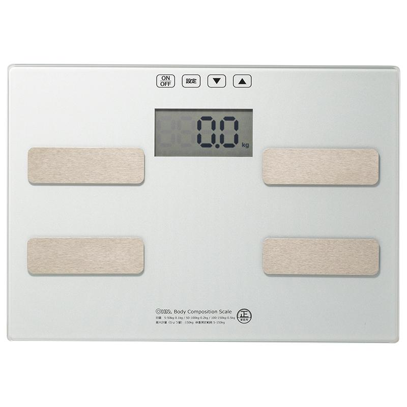 体重 体脂肪率 BMI指数 基礎代謝 前回差を表示 OHM 体重計 シルバー 注文後の変更キャンセル返品 オーム電機 HB-KG11H1-S 体脂肪計 トラスト
