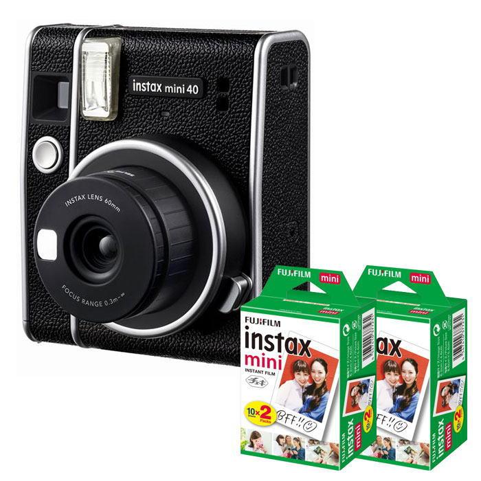 フィルム40枚セット 富士フィルム チェキカメラ instax 最新 セール mini40+フィルム40枚付き