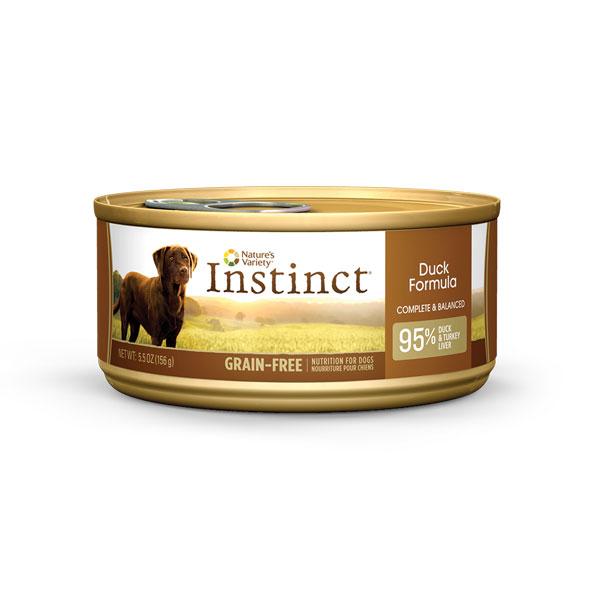 ネイチャーズバラエティ インスティンクト[オリジナル]ドッグ缶フード ダック 156g×24缶[総合栄養食/全犬種、全年齢用]【全国送料無料】