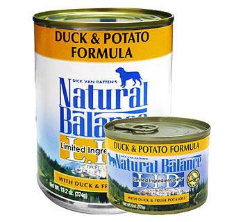 ナチュラルバランス ダック&ポテト缶 ドッグフード 6オンス(170g) ×24缶【全国送料無料】