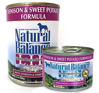ナチュラルバランス ベニソン&スウィートポテト缶 ドッグフード 13オンス(369g) 24缶セット販売