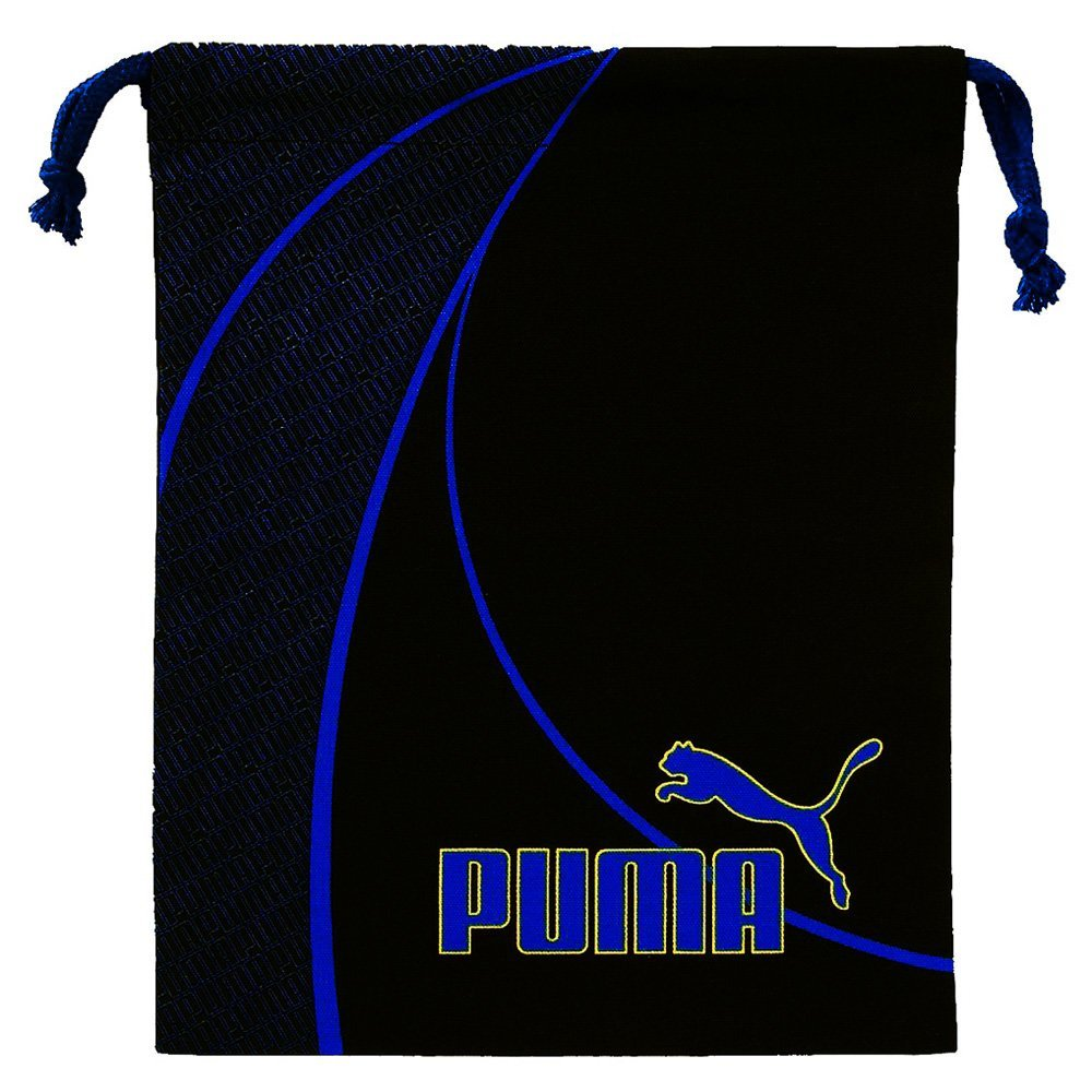 【ゆうパケット/ネコポス便発送 最短翌日配送】 プーマ[PUMA] 巾着袋 Mサイズ ブラック×ブルー [体操着入れ プール用品入れ] クツワ 687PM [送料無料]