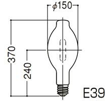【ポイント最大23倍12/19~26エントリー必須】HF700X 岩崎電気 アイ 水銀ランプ (700W、E39、蛍光形・アイ パワーデラックス)