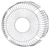 【ポイント最大23倍12/19~26エントリー必須】GU-40VP2 東芝 有圧換気扇用保護ガード 40cm用(鋼線製)
