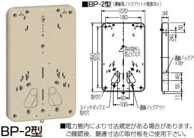 【ポイント最大23倍12/19~26エントリー必須】BP-2G 未来工業 積算電力計・計器箱取付板(グレー)(10個入)