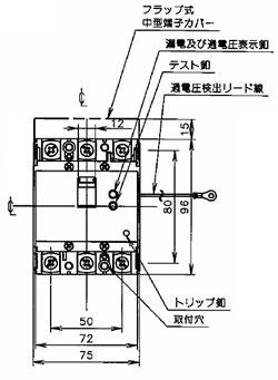 BJW3303573K パナソニック 漏電ブレーカーBJW-30SN型(3P3E 30A 30mA)