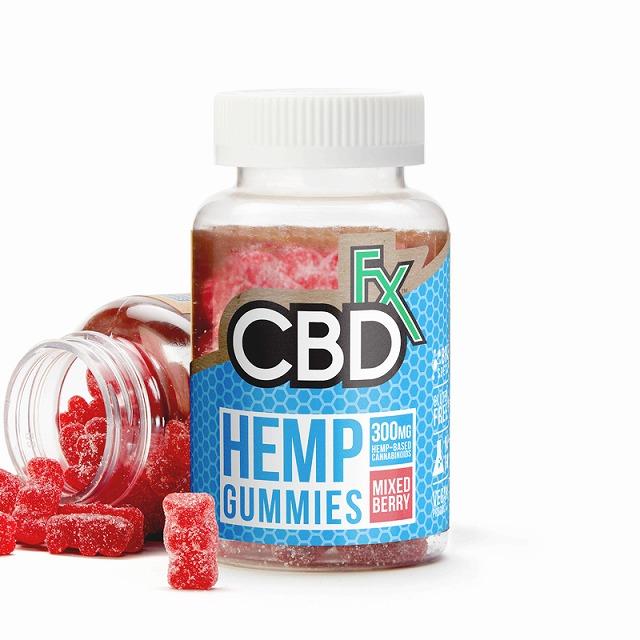 CBDFX CBDグミ ミックスベリー味 60粒入り HEMP GUMMIES