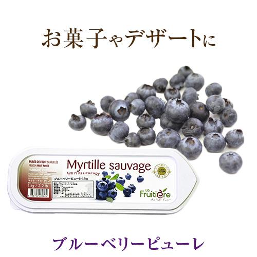 ラ フルティエール 冷凍 ブルーベリー ピューレ1kg 人気の製品 フルーツピューレ デザート 藍苺 アイス ジェラート blueberry パフェ スイーツ 至高