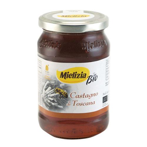 栗のハチミツ 濃い褐色でつややかな質感 コクのある渋皮にも似たビターな風味が特徴です ミエリツィア トスカーナ産 当店限定販売 ミエーレ カスターニョ 400g イタリア 蜂蜜 マロン トレンド はちみつ 製菓 栗 ハチミツ