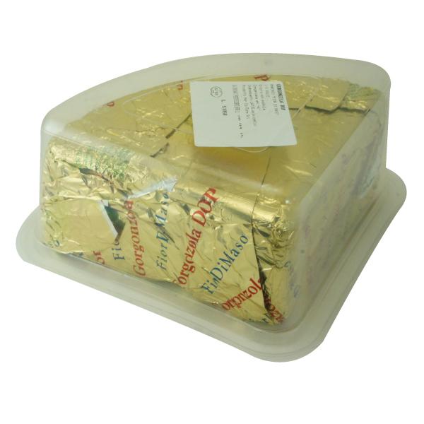 特有の甘味、旨味でワインや料理がもっと美味くなります♪  【冷蔵】フィオルディマーゾ社 ゴルゴンゾーラ ドルチェ DOP 約1400g カット   Gorgonzola Dolce DOP Fiordimaso FDM カフォルム ジャパン イタリア チーズ 青カビ ブルーチーズ
