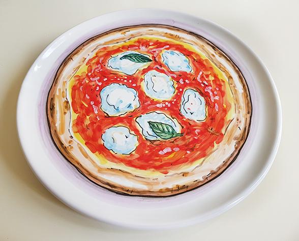 【皿以外同梱不可】展示用陶器 ピザ皿 30cm スペシャル
