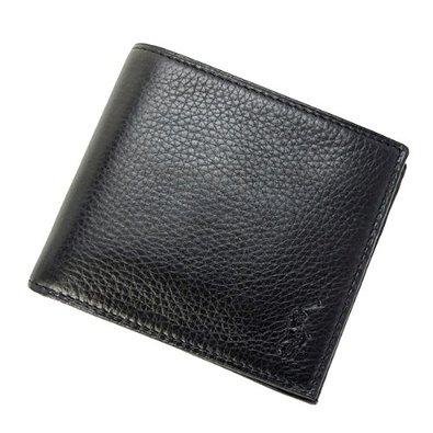 ポロ ラルフローレン (Polo RalphLauren)レザー ブラック 折財布 メンズ