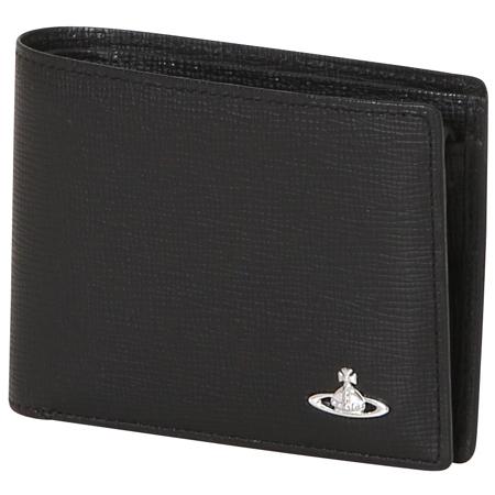 ヴィヴィアンウエストウッド (Vivienne Westwood)折財布 マスター ブラック メンズ
