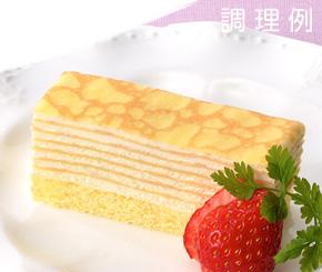 フリーカットケーキミルクレープ480g箱 味の素 冷凍食品ケーキ 洋菓子 【冷凍食品】【業務用食材】【10800円以上で送料無料】