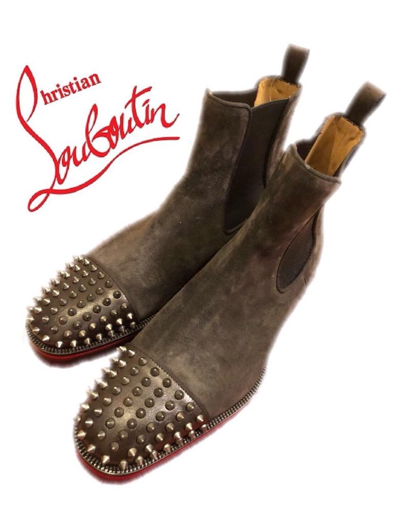 新品 未使用 2017 2018 AW 新作 ルブタン Melon Spikes Flat ブーツ CHRISTIAN LOUBOUTIN 靴 クリスチャンルブタン