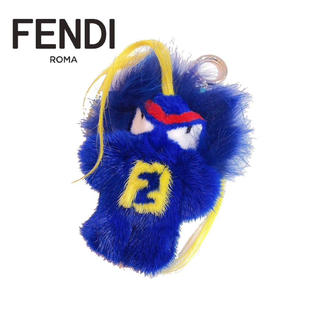 【新品】FENDI/フェンディ FENDIRUMI BUGKUN FUR BAG CHARM バグスバッグ ファー チャーム キーホルダー