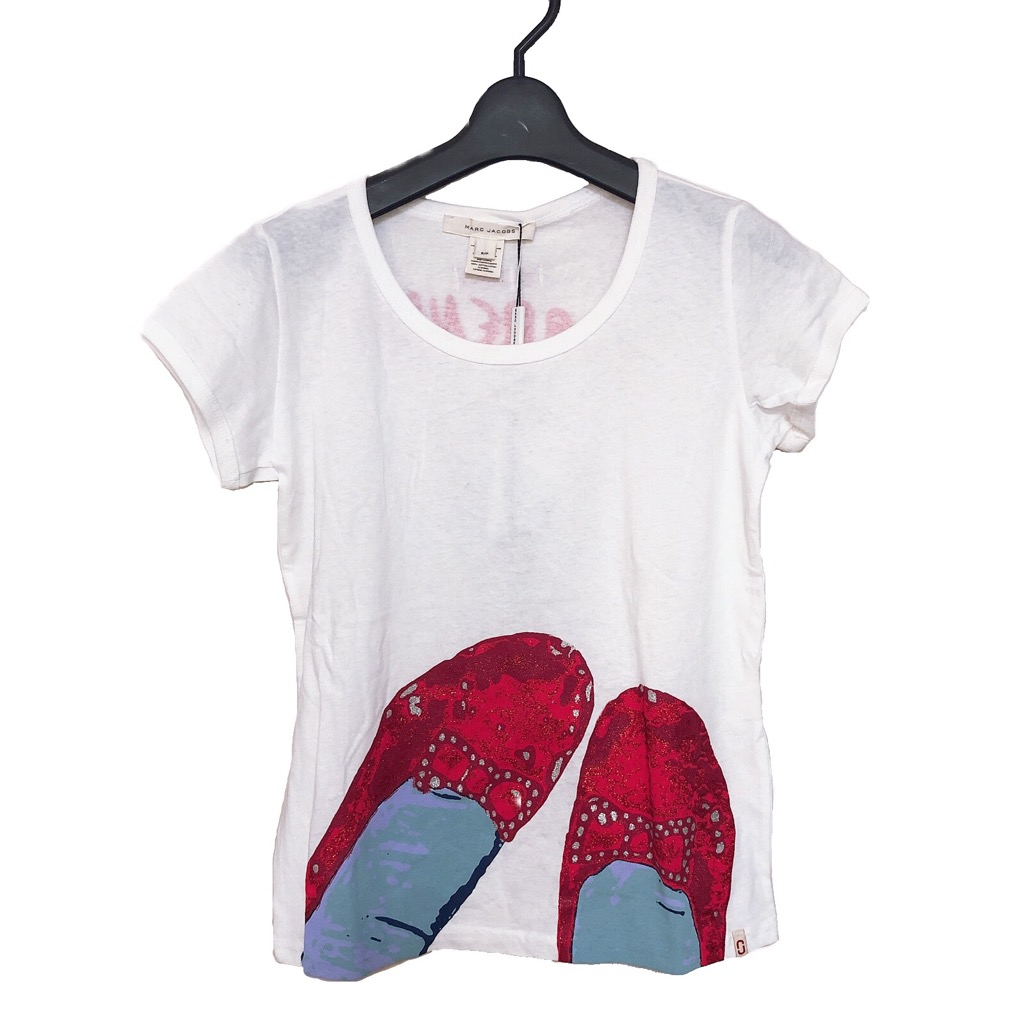 【新品】確実正規品 MARC JACOBS マークジェイコブス Tシャツ ホワイト 白 レディース