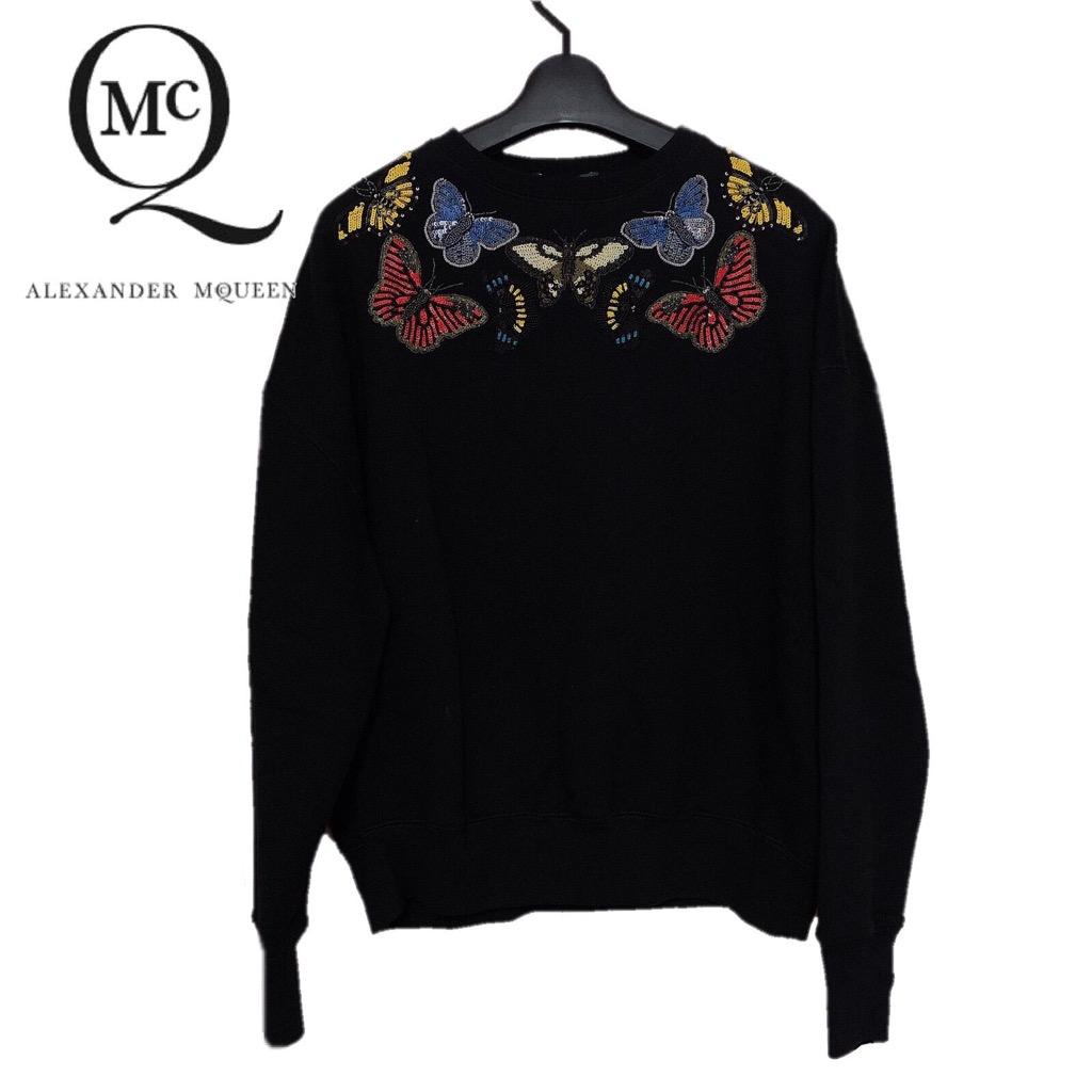 【新品】確実正規品 ALEXANDER McQUEEN アレキサンダーマックイーン スウェット シャツ ブラック 黒
