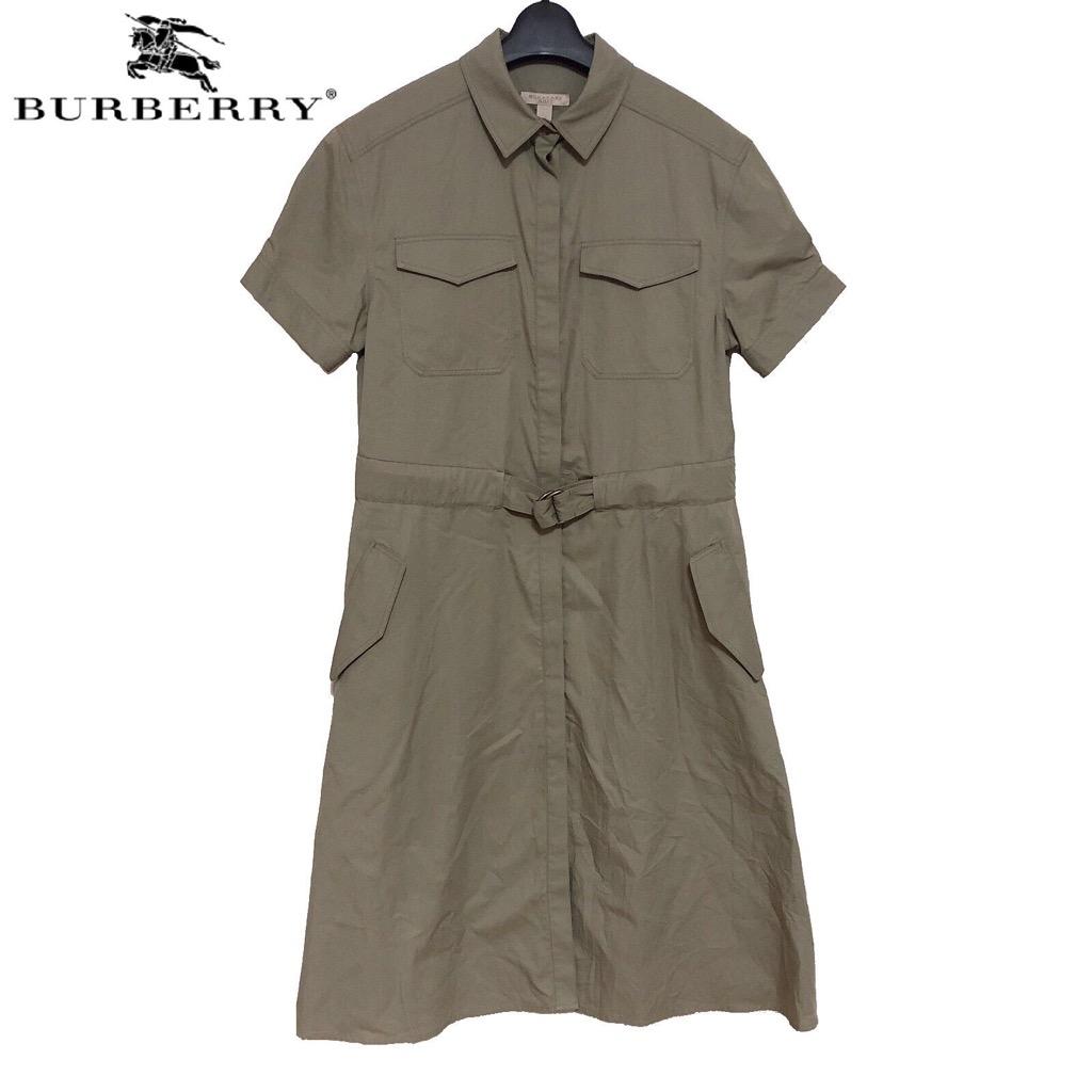 【新品】確実正規品 BURBERRY BRIT バーバリーブリット シャツ ドレス ワンピース 半袖 レディース