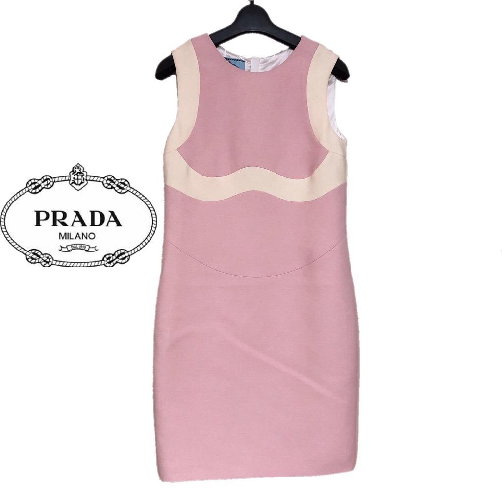 【新品】確実正規品 PRADA プラダ ワンピース ドレス ピンク 桃 レディース IT40 Sサイズ