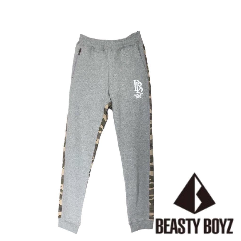 【新品】 確実正規品 BEASTY BOYZ ビースティボーイズ スウェット パンツ 迷彩 グレー メンズ Sサイズ