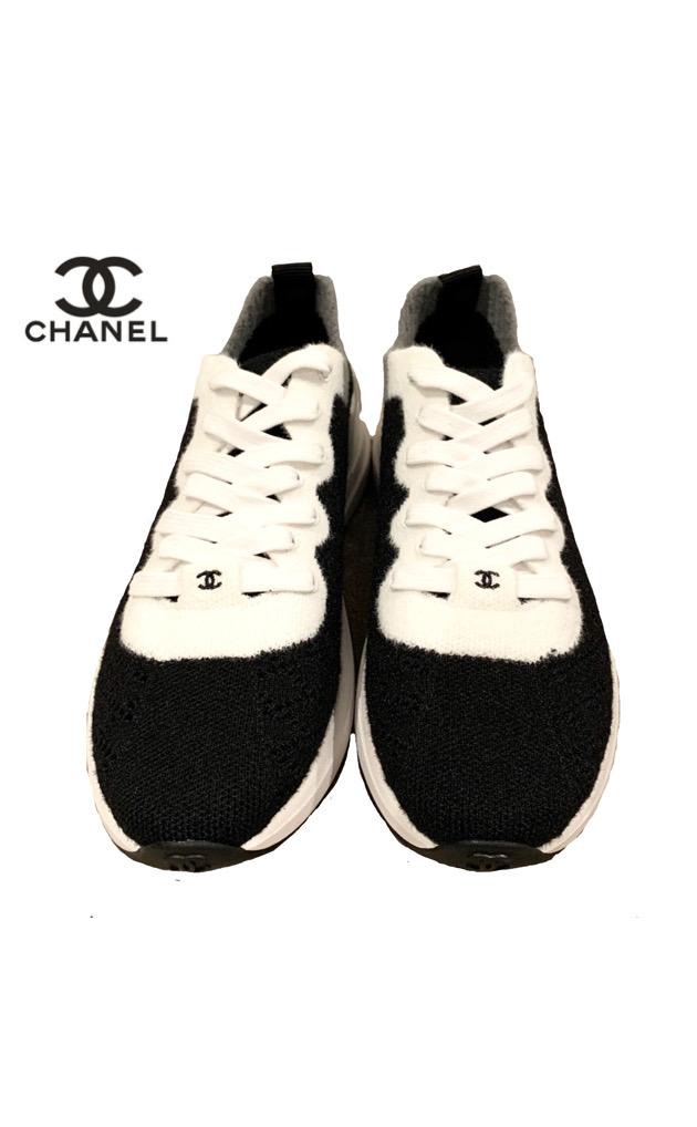 新品 未使用 2019 2020 AW 新作 シャネル CHANEL 靴 スニーカー ブラック プレゼント ギフト