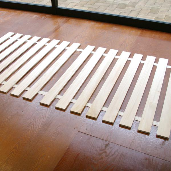 桐すのこベッド ダブルサイズ用巻きすのこ 日本製