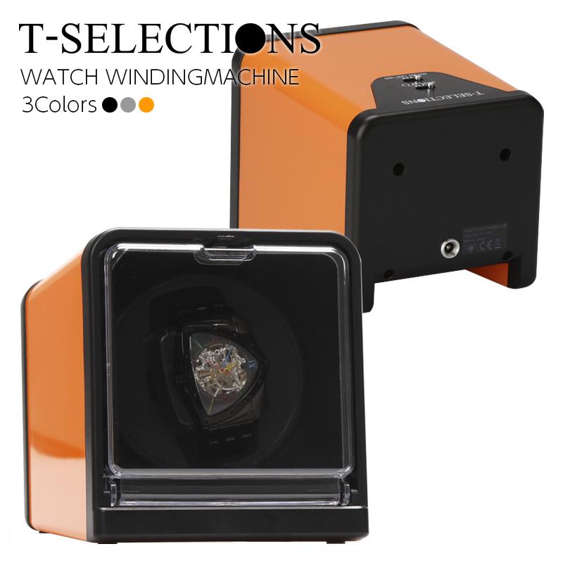T-SELECTIONS ワインディングマシーン 1本巻上げ 1年保証 静音 ギア駆動 4モード T-005112 3色展開 ウォッチワインダー
