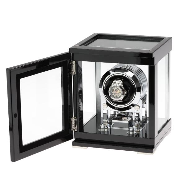 T-SELECTIONS ワインディングマシーン 1本巻き上げ ギアドライブ センターストップ機能 ガラス扉 T-005608