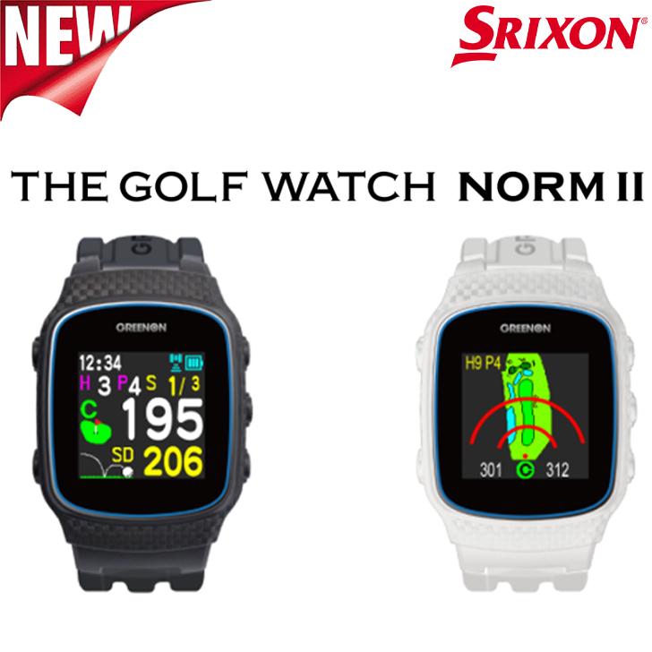 高性能ゴルフウォッチ 販売 SRIXON スリクソンTHE GOLF WATCH NORM ゴルフウォッチ II 訳あり品送料無料 ノルム2GGF-M0002 ゴルフナビ 距離計測器