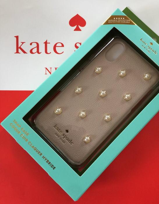 ケイトスペード アイフォンケース アイフォン7プラス 8プラス iphone7plus/iPhone8 Plus pearl applique kate spade パールを散りばめた淡いベージュ系 WIRU0983 272