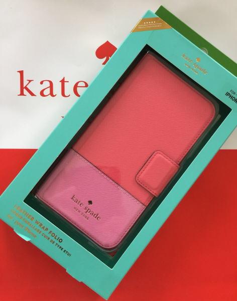 ケイトスペード アイフォンケース iPhoneX XS  Kate spade 手帳型 レザー ラップ フォリオ - X & XS ピンク系 8ARU2236【日本在庫・即発送】