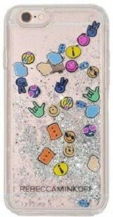 レベッカミンコフ Rebecca Minkoff iPhoneケース 7Plus アイフォン 7plus 7プラス キラキラグリッター 絵文字 【即発送・日本在庫】