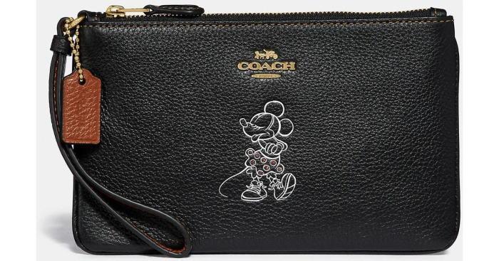 コーチ コラボ ミニ-マウス リストレット ポーチ ギフトbox付き 黒 COACH×DISNEY 37540B【日本在庫・即発送】