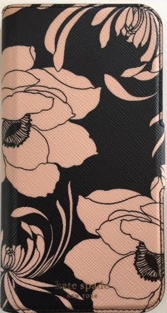 ケイトスペード アイフォンケース iPhoneXR kate spade  アイフォンX アイフォンXRケース 手帳型 gardenia柄 WIRU1042 黒【即発送】