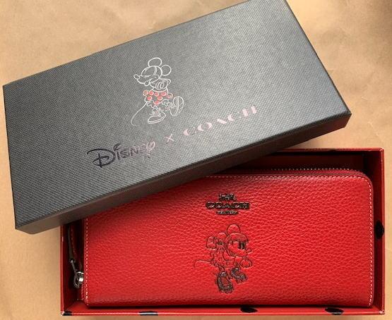 コーチ COACH 長財布財布 COACH×DISENY Boxed Minnie Mouse 長財布 ギフトbox付き 赤 ミニーマウスの長財布 限定品 【日本在庫・即発送】