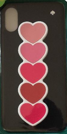 ケイトスペード アイフォンケース スタンド iPhone X/iPhone Xs 対応 ピンク ハートがスタンドに!iPhone X / XS 8ARU6070