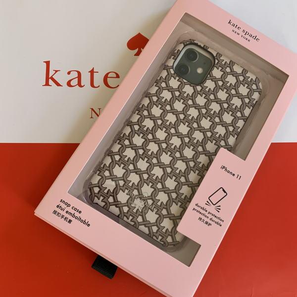 ケース ケイトスペード スペードリンクプリント spade iPhone Case アイフォン iPhone11 白【日本在庫・即発送】 PRO Kate 11PRO ホワイト WIRU1394