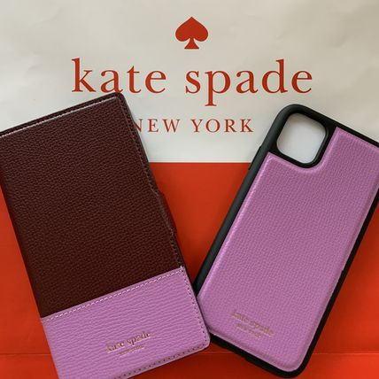 ケイトスペード Kate spade 手帳型 アイフォンケース iphone 11pro 手帳型と単品使用可!2way バイカラーiPhone 11 PRO パープル系 8aru6555 564