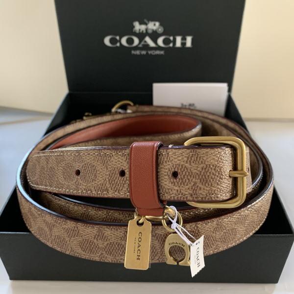 【日本在庫・即発送】コーチ COACH 犬の首輪 小型犬 79828-79829 茶系 シグネチャー柄 BOX付きリード首輪セット♪