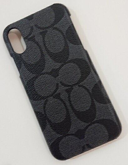 レターパック 送料無料 売り出し コーチ coach iPhone X iPhoneXs 日本在庫 即発送 新着 アイフォンケース F89009 グレー シグネチャー