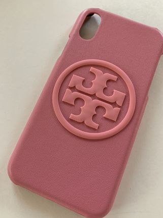 トリーバーチ アイフォン Xs Xケース レターパック 送料無料 アイフォンケース X XS TORY 即発送 開催中 ロゴレザーピンク 超歓迎された IPHONE BOMBE 日本在庫 FOR PERRY BURCH CASE PHONE
