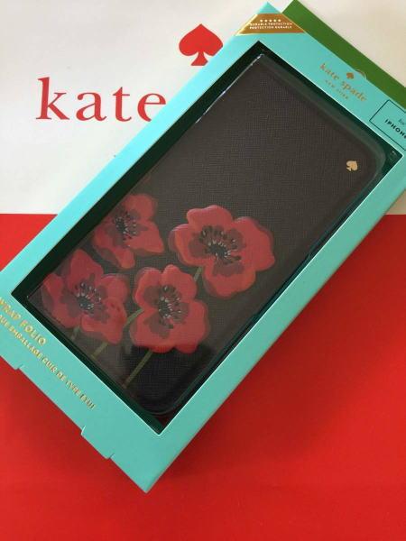 ケイトスペード Kate spade iPhoneケース X iPhoneケース X ポピー 手帳型 iphone Xケース カード入れ付 ブラックマルチレザー 黒 花柄 WIRU0927