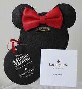 日本在庫 即発送 ケイトスペード 無料 ミニーマウス コラボ 小さい財布 小銭入れ NEW コーンケース PWRU4883 ミニーちゃん